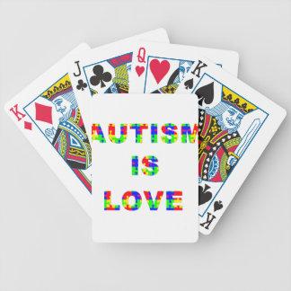 El autismo es amor baraja cartas de poker