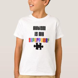 El autismo es mi camiseta de la superpotencia