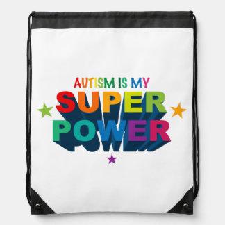 El autismo es mi mochila del lazo de la superpoten