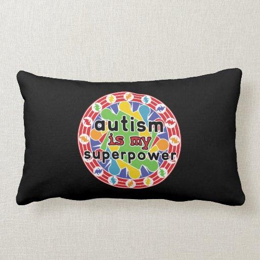 El autismo es mi superpoder almohada