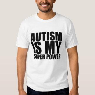 ¡El autismo es mi superpoder! Camisas