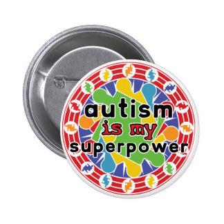 El autismo es mi superpoder pin