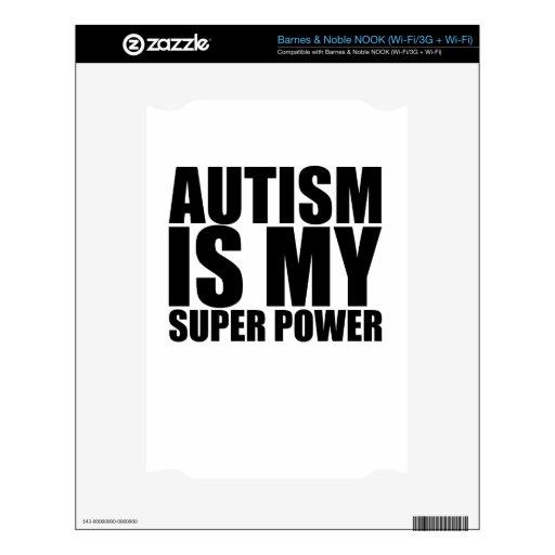 ¡El autismo es mi superpoder! .png Calcomanías Para NOOK
