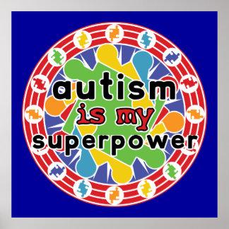 El autismo es mi superpoder póster