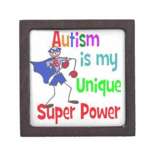 El autismo es mi superpoder único caja de recuerdo de calidad