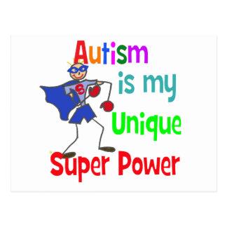 El autismo es mi superpoder único tarjetas postales