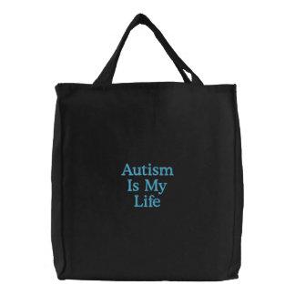 El autismo es mi vida bolsas de lienzo