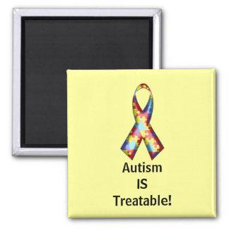 ¡El autismo ES tratable! Imán Cuadrado
