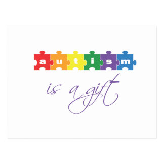 El autismo es un regalo postales