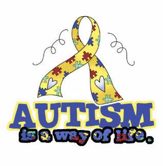 El autismo es una manera de vida fotoescultura vertical
