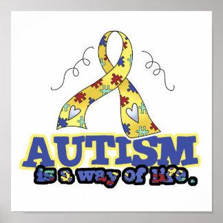 El autismo es una manera de vida poster