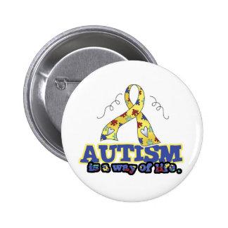 El autismo es una manera de vida pin redondo 5 cm