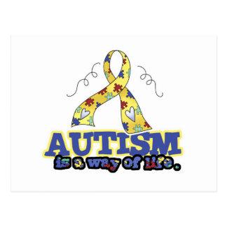 El autismo es una manera de vida postales