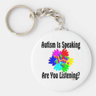 ¿El autismo está hablando es usted que escucha? Llavero Redondo Tipo Pin