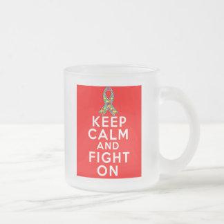 El autismo guarda calma y sigue luchando taza de café