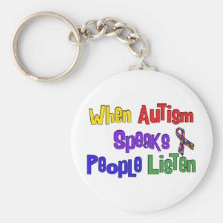 El autismo habla llaveros personalizados