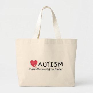 El autismo hace que el corazón crece más encariñad bolsa lienzo