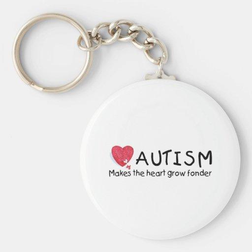 El autismo hace que el corazón crece más encariñad llavero