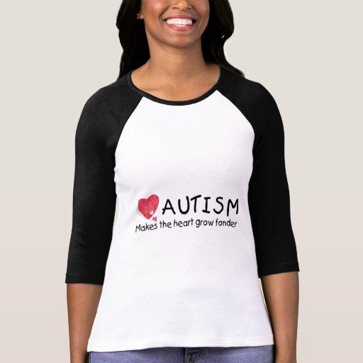 El autismo hace que el corazón crece más encariñad tee shirt
