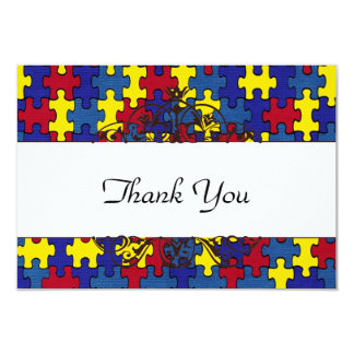 """El autismo le agradece invitación 3.5"""" x 5"""""""