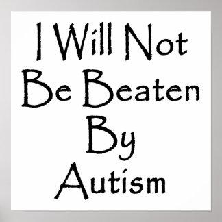 El autismo me no batiré póster