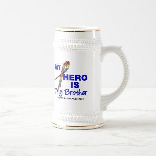 El autismo mi héroe es mi Brother Jarra De Cerveza