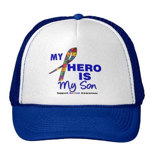 El autismo mi héroe es mi hijo gorras de camionero