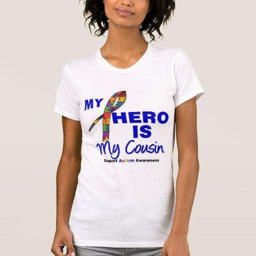El autismo mi héroe es mi primo camisetas
