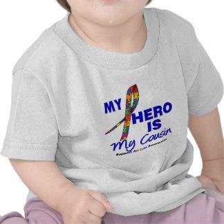 El autismo mi héroe es mi primo camiseta