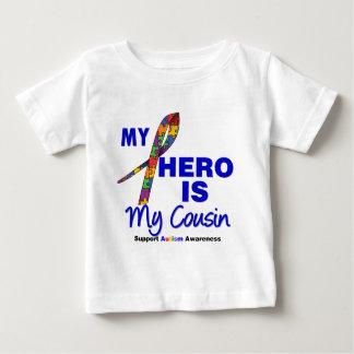 El autismo mi héroe es mi primo playera de bebé