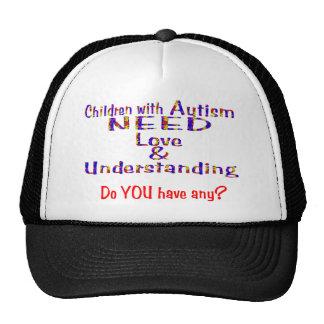 El autismo necesita la comprensión del amor n gorro de camionero