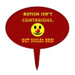 El autismo no es contagioso pero las sonrisas son decoraciones de tartas