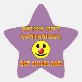 El autismo no es contagioso pero las sonrisas son pegatina en forma de estrella