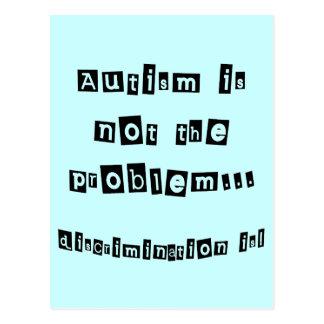 El autismo no es el problema tarjeta postal