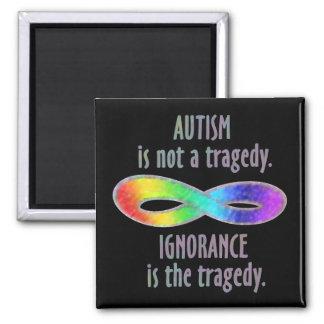 El autismo no es imanes de una tragedia imán cuadrado