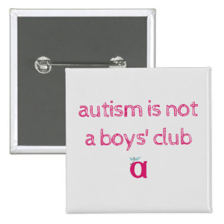 el autismo no es un botón incompleto del club de pin cuadrado