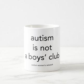 El autismo no es un club de los muchachos: taza