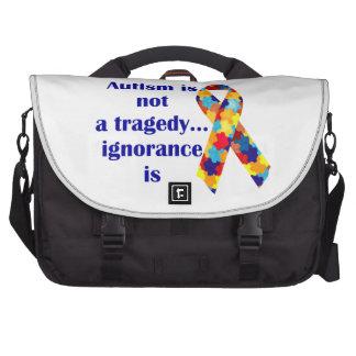 El autismo no es una tragedia, ignorancia es bolsas de ordenador