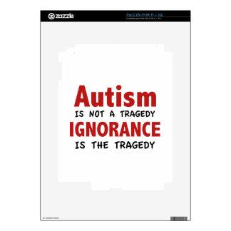 El autismo no es una tragedia, ignorancia es la skins para iPad 2