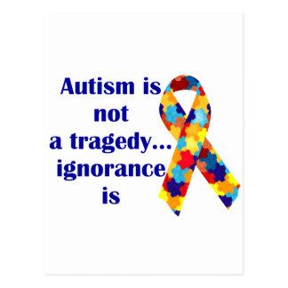 El autismo no es una tragedia, ignorancia es postales