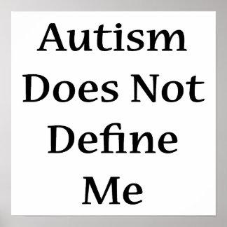 El autismo no me define póster