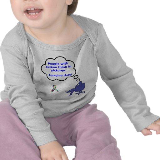 El autismo/piensa en imágenes camisetas