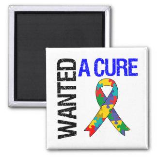 El autismo quiso una curación imán cuadrado
