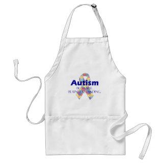 El autismo sea consciente esté entendiendo delantal
