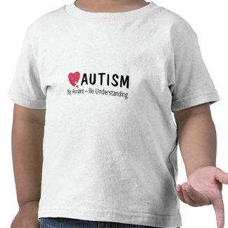 El autismo sea consciente esté entendiendo camisetas