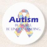 El autismo sea consciente esté entendiendo posavasos cerveza
