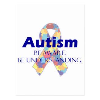 El autismo sea consciente esté entendiendo tarjetas postales