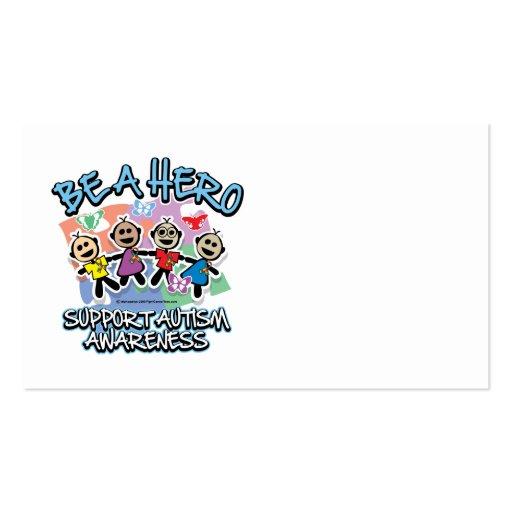 El autismo sea un héroe tarjeta personal