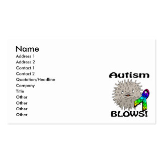 El autismo sopla diseño de la conciencia tarjeta de negocio