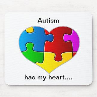 El autismo tiene mi cojín de ratón del corazón… mousepad